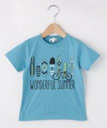 3can4on(Kids)/【90cm~160cm】サーフボードプリントTシャツ/502302618