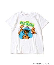 Ray BEAMS/FUJI ROCK FESTIVAL'19 × Ray BEAMS / SESAME STREET クッキーモンスター Tシャツ/502303144