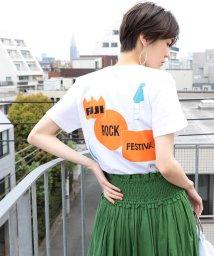 Ray BEAMS/<WOMEN>FUJI ROCK FESTIVAL'19 × Ray BEAMS / MA1LL プリント Tシャツ/502303148