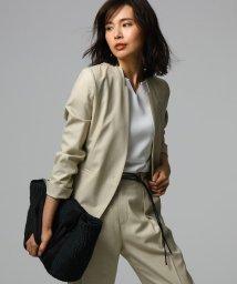 UNTITLED/[L]【洗える】リネンライク デザインネックジャケット/502303171