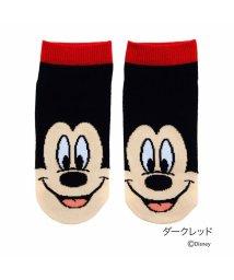Disney/【福助】 ディズニー Disney DISNEYスタンダードFスニーカー23/25 (Dレッド)/502303627