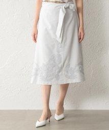 TRANSWORK/【ウォッシャブル】ダルスラブ刺繍スカート/502267033
