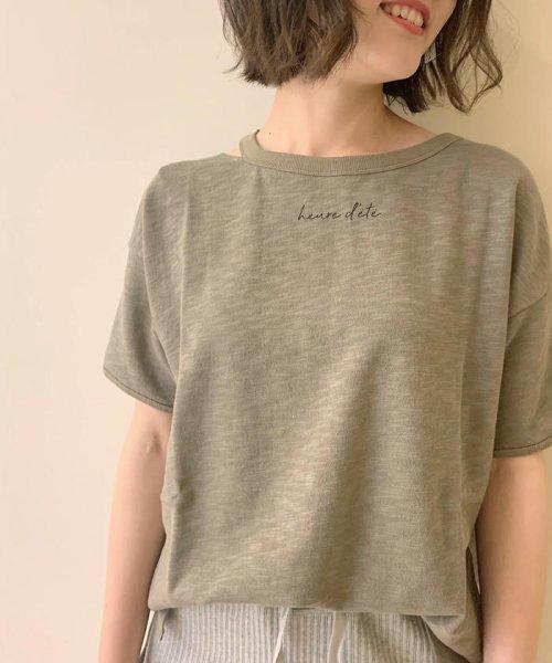 FREDY REPIT(フレディレピ)/[新色追加]ヴィンテージスラブ裏毛 衿デザインTシャツ/9-0012-2-23-010