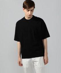BLUE WORK/吊天竺 ビッグシルエット ポケットTシャツ/502303754