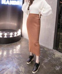maison de LATIR/ニット素材で、デイリーユースにぴったりのタイトスカート。/502305957