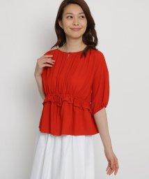 SunaUna/【洗える】ソフトストレッチジョーゼットブラウス/502306008