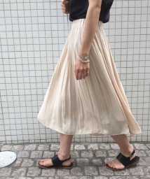 ROPE' mademoiselle/ヴィンテージサテンギャザーフレアスカート/501618497