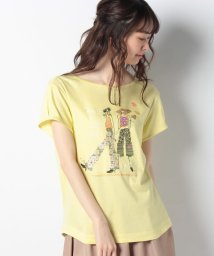 CARA O CRUZ/ガールモチーフTシャツ/502022120