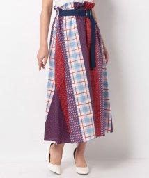 B donna/パッチワークプリントスカート/502299535