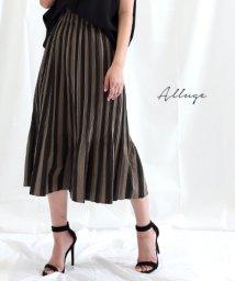 Alluge/バイカラー変形プリーツスカート/502307255