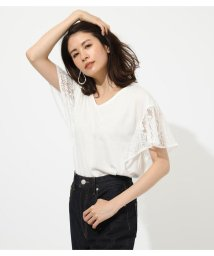 AZUL by moussy/LACE SLEEVE TOP/502307371