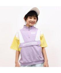 RiCO SUCRE/ハーフジップ切り替えプルオーバーTシャツ/502307567