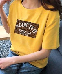 ANDJ/レオパードロゴプリントTシャツ/502307798