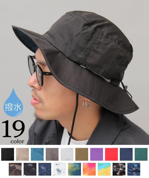 AMS SELECT(エーエムエスセレクト)/【HIDE TRADING/ヒデトレーディング】撥水ナイロンアドベンチャーハット/あご紐付き/HDT-001