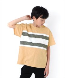 GLAZOS/ドロップショルダーパネル切替半袖Tシャツ/502308417