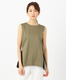 ICB(LARGE SIZE)/Fabric Combi Jersey ノースリーブ カットソー/502309789