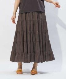 Rouge vif la cle/コットンギャザースカート/501992029