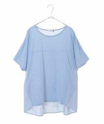 eur3/【大きいサイズ】バック刺繍Tシャツ/502270447