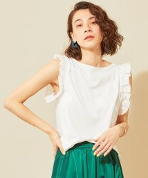 BEAUTY&YOUTH UNITED ARROWS/【WEB限定】by ※∴フリルノースリーブボートネックカットソー/502309825