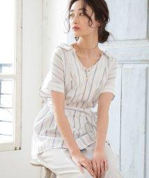 ViS/【EASY CARE】ベルト付きシャツブラウス/502310304