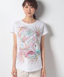 SISLEY/ラインストーンプリントTシャツ・カットソー/502302302
