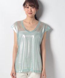 SISLEY/ラメレーシーフレンチTシャツ・カットソー/502302303