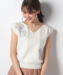 Noela/フラワーブーケ刺繍ニット/502004538