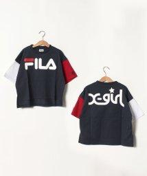 X-girl Stages/FILAコラボ ワイドTシャツ/502301797