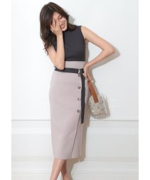 Mystrada/【MAGASEEK/d fashion限定カラー】ベルト付サイド釦ニットアップ/502308834