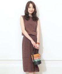 JUSGLITTY/【MAGASEEK/d fashion限定カラー】かぎ編みスカートSET UP/502310576