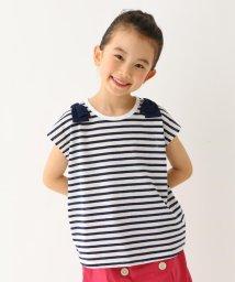 3can4on(Kids)/【160cmまで】梨地ボーダー天竺Tシャツ/502310984