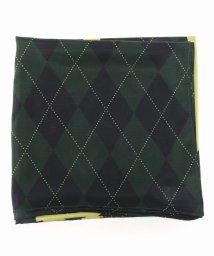 journal standard  L'essage /【BAUM UND PFERDGARTEN/バウム ウンド ヘルガーデン】1002 SILK SCARF  GREEN CHECK/502311078