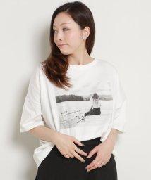 framesRayCassin/空紡糸転写フォトTシャツ/502311225