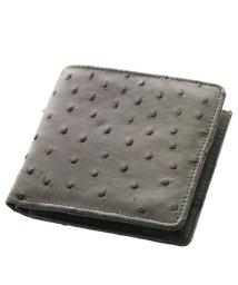 sankyoshokai/本革オーストリッチレザー ミニ財布 二つ折り メンズ レディース/502311339
