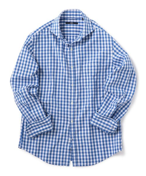 SHIPS MEN(シップス メン)/SC: レノクロス ストライプ セミワイドカラーシャツ/111100304