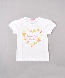 KISS DROP/【カタログ掲載】天竺フルーツハートリースプリントTシャツ/501998753