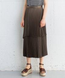 LANVIN en Bleu/アシンメトリープリーツスカート/502003865