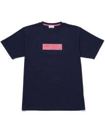 JUNRed/エンボスミラーロゴTシャツ/502275734