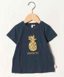 LAGOM/パイナップルプリントTシャツ/502302297