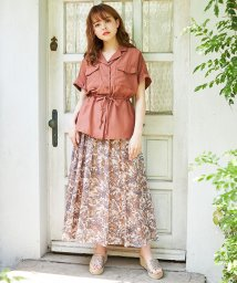 INGNI/ペイズリー柄ギャザースカート/502308727
