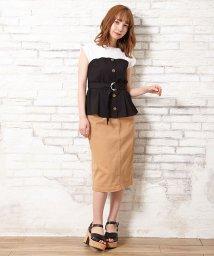 INGNI/前ボタンナロースカート/502308735