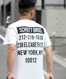 Schott/【WEB限定】Schott/ショット/STORE LOCATION T-SHIRT/ストア アドレスTシャツ/502313114