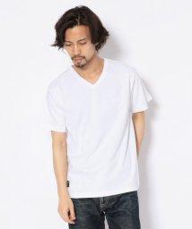 AVIREX/【WEB&DEPOT限定】スモールボックスロゴ VネックTシャツ/SMALL BOX LOGO T-SHIRT/502313138