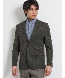 m.f.editorial/麻混ラッセルカラミ織 2釦シングルジャケット こげ茶/502314939
