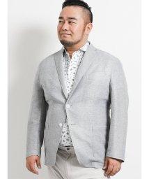 GRAND-BACK/【大きいサイズ】グランバック/GRAND-BACK ストレッチカラミ織りリネン 2釦シングルジャケット/502314945