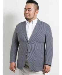 GRAND-BACK/【大きいサイズ】グランバック/GRAND-BACK シルキーサッカー 2釦シングルジャケット/502314946