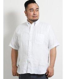 GRAND-BACK/【大きいサイズ】ポロ/POLO フレンチリネン半袖ボタンダウンシャツ/502314964
