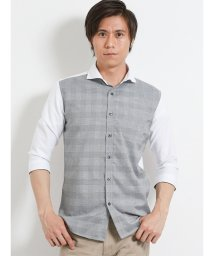 m.f.editorial/オックス前身切替カッタウェイ7分袖シャツ/502314966