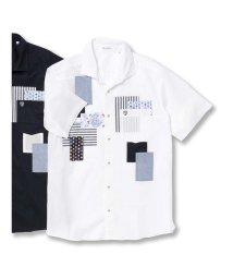 GRAND-BACK/【大きいサイズ】バジエ/VAGIIE 綿パッチワーク半袖シャツ/502314972