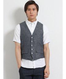 TAKA-Q/綿麻リバーシブルジレ/502315157
